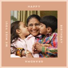 Pink Happy Birthday to Grandmother Instagram Square 101 Templates - Aspiring Communicator