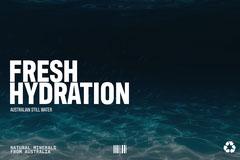 Underwater Fresh hydration packaging landscape Water