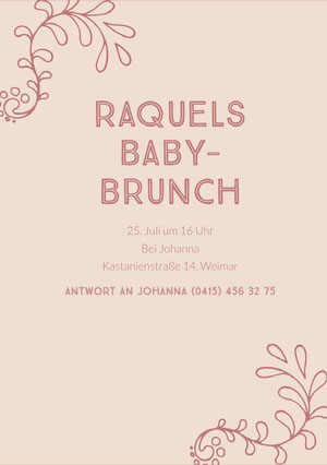 baby brunch baby shower invitations  Einladung zur Babyparty