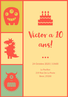 Victor a 10ans! Invitation