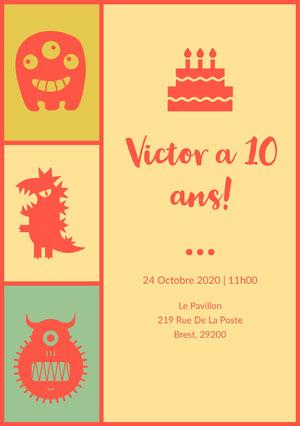 Victor a 10ans! Invitation à une fête