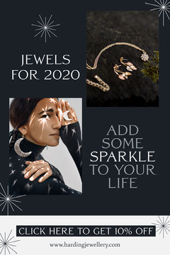 Silver and Black Jewelry Store Newsletter with Photos Jewelry