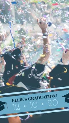 Graduation Announcement Snapchat Story with Confetti Confetti