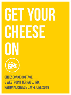Yellow and White Cheese On Flyer Cheese