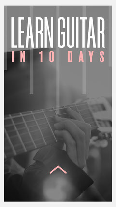 Pink & Grey Learn Guitar Instagram Story Music Lessons Flyer