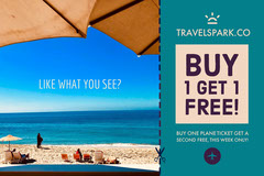 Travel Agency Ad with Beach Travel Agency