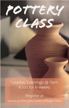 Brown Pottery Class Flyer with Clay Pots Brown