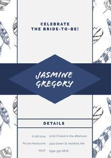 Jasmine Gregory Convite de casamento