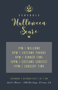 Pumpkin Scare Halloween Party Schedule Halloween Party Schedule