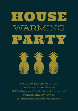 HOUSE <BR>PARTY Invito a una festa