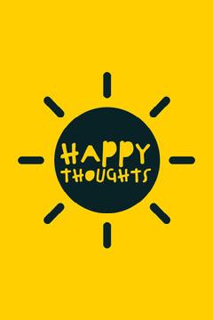 Yellow Sun Happy Thoughts Pinterest Yellow