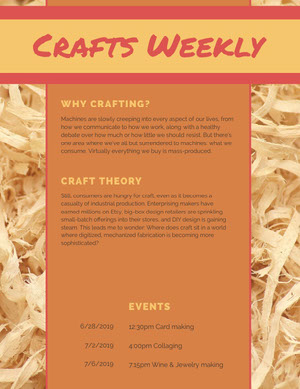 Crafts Weekly Newsletter