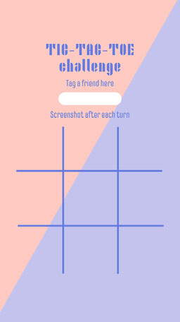 Purple Tic Tac Toe Game Instagram Story