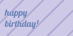 Blue Striped Happy Birthday Gift Tag Birthday