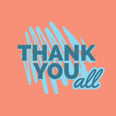 Pink and Blue Sentence Instagram Graphic Thank You Poster