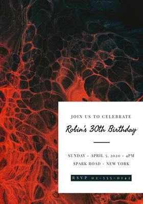 Robin's 30th Birthday Bachelorette Party Invitation