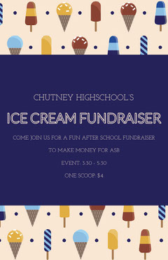 ICE CREAM FUNDRAISER After School