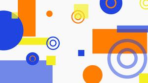 Multicolor Shapes Zoom Background Social Post Presentation