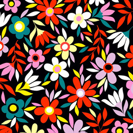 Black and Colorful Flower Pattern Instagram Post Artists Collection: Adobe Spark Stylemakers