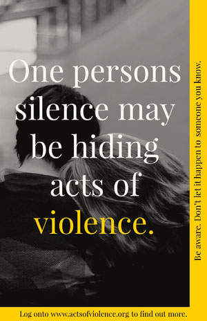 domestic abuse poster Kampagnenposter