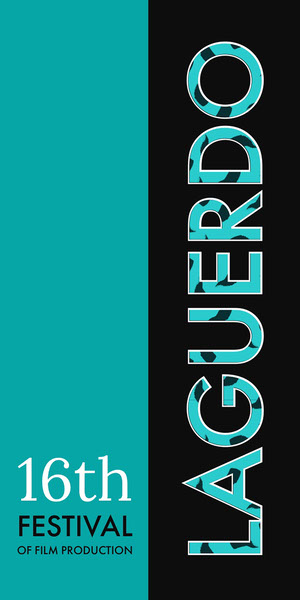 Turquoise and Black Film Festival Vertical Banner Banneri