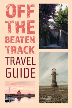 Red Grunge Off The Beaten Track Travel Guide Pinterest  Guide