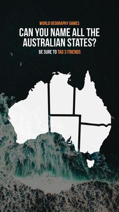 Australian States Geography Instagram Story Ocean