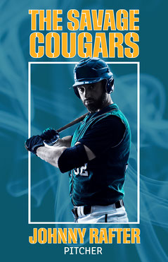 Blue And Yellow Baseball Player Poster Sports