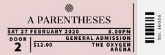 Pink Concert Ticket Concert Ticket