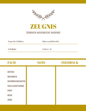 gold academic academy report cards  Zeugnis