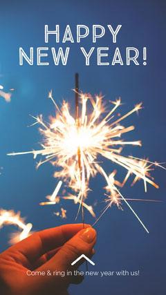 happy new year sparkler igstory  Fireworks