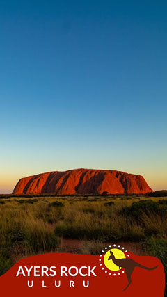 Light Toned Ayers Rock Travel Ad Instagram Story Landscape