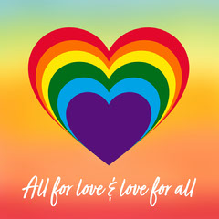Gradient Pride Colors Hearts Instagram Square Love
