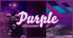 Purple Facebook Post Graphic with Collage Purple
