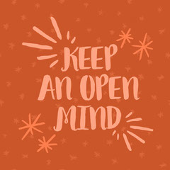 KEEP<BR>AN OPEN <BR>MIND Anti-Bullying
