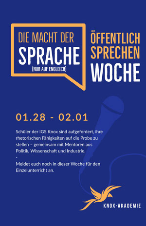 public speaking event poster  Veranstaltungsplakat