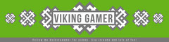 Green and Grey Viking Gamer Twitch Banner Blogger