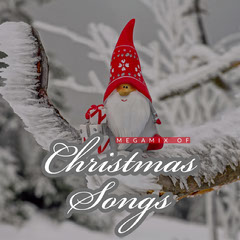White and Red Christmas Songs Album Cover with Gnome Winter