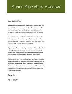 Green and White Professional Letter Marketing