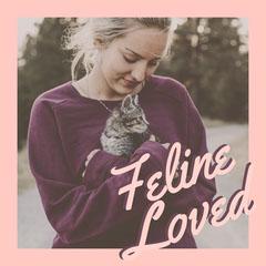 Pink, Light Toned Feline Lover Instagram Post Cat