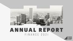 Grey and Black Cityscape Annual Report Presentation Cover City