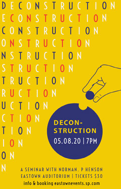 Yellow and Violet Deconstruction Seminar Poster Seminar Flyer