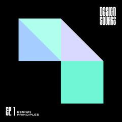Blue, White and Black, Geometric Design, Podcast Banner Podcast