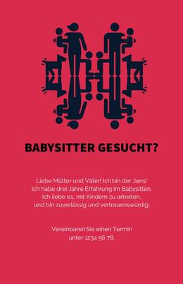Babysitter gesucht? Flyer