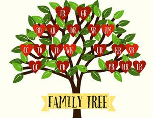 Heart Family Tree  Family Tree Templates