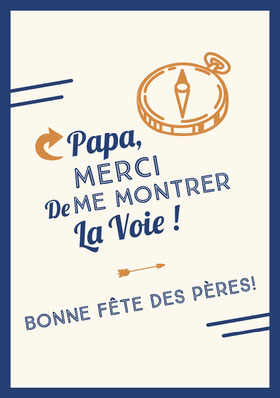 compass Father's Day cards Carte de remerciement