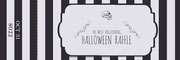 Black and White Stripes and Skull Halloween Party Raffle Ticket Festa di Halloween