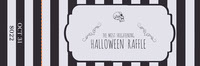 Black White Stripes Halloween Party Raffle Ticket Halloween Party