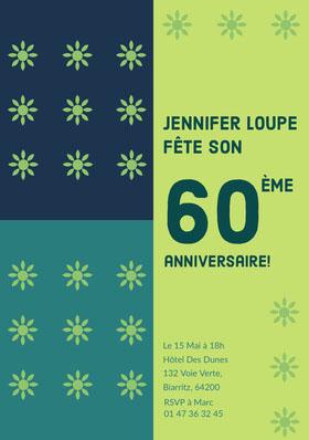 60 Invitation d'anniversaire