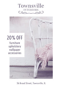 White Townsville Interiors Flyer Furniture Sale